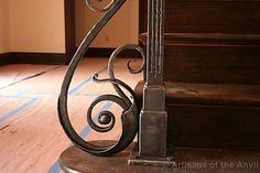 Railing post base. Dinky says this is so beautiful -