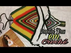 Cropkini Tiras em Crochê colorido (Noéllya Ribeiro) - YouTube
