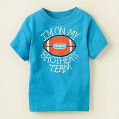 Childrens' Place .  I'm on my brother's team .  Size: 18-24mos . To order: http://www.shopaholic.com.ph/#!/Childrens-Place-Im-on-my-brothers-team/p/29444553