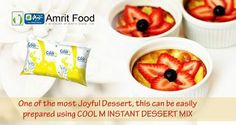 Happiness comes easy, for all those who love eating desserts - Cool M Instant Dessert Mix is the perfect companion.  Complete your evening in style, shop here - http://www.amritfood.com/shop.php