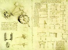 Los dibujos de Leonardo reflejan una peculiarísima visión del espacio. Los textos son subsidiarios.