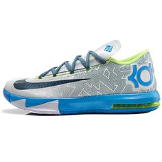 brand new 87ebf 0baa0 KD 6 (HOME) Men s size 9 EUC - Condition Original laces are included but no  box! Original Release Date  Colors  Pure Platinum Night Factor-Vivid Blue- Volt ...