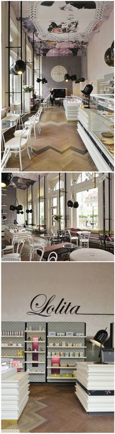 LOLITA CAFE LOVELINESS... Inspiring design! #ceilingsareunderated