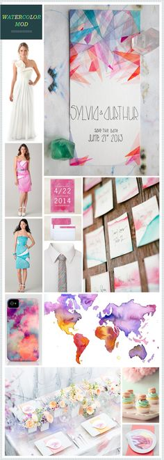 REVEL: Watercolor Mod Wedding Inspiration