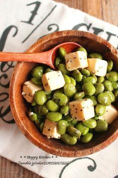 火を使わない簡単おつまみ*枝豆とチーズのオリーブオイル和え | たっきーママ オフィシャルブログ「たっきーママ@Happy Kitchen」Powered by Ameba