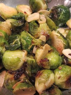 Lemon and Garlic Roasted Brussels Sprouts - Roasting brussels sprouts brings out their natural sweetness!