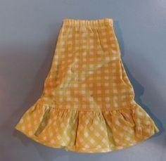Vintage-Barbie-Doll-Dress-Barbie-Best-Buy-Fashion-3205-Gingham-Skirt
