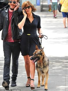 I pinned this for you, Jared, so you have some eye candy for yourself. Jennifer Aniston + German Shepherd = your fantasy