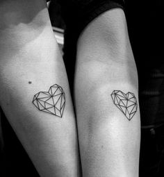 geometric heart tattoo by Hafem