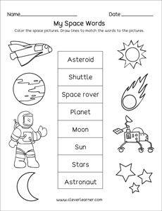 The Solar System Worksheets For Kindergarten And Preschool Solar System Worksheets Solar System Lessons Space Activities Preschool Pre k science printable worksheets