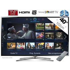 UE40F6400 - Téléviseur LED 3D Full HD - 40'' - 102cm - HDTV 1080p - Smart TV - AllShare - TNT HD - 4HDMI - CI  - USB Multimédia - CMR 200Hz   2 paires de lunettes 3D (SSG-5100GB) : en vente sur RueDuCommerce