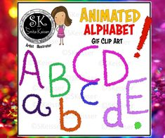 Excited to share this item from my #etsy shop: Animated Alphabets, GIF Letters, Spanish Accents, Punctuation Marks GIF Files, Online Use Clip Art, Alphabet, Personal Education Clipart, Alphabet, Gif Files, Digital Web, Text Overlay, Animation, Clips, Punctuation, Lower Case Letters