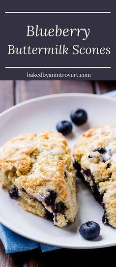 Try these delightful blueberry buttermilk scones for breakfast or enjoy one for dessert!