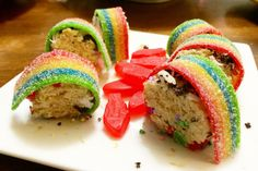 Picture of Colorful Dessert Sushi [made with rice krispies]