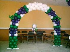 Resultado de imagen para decoracion con globos primera comunion
