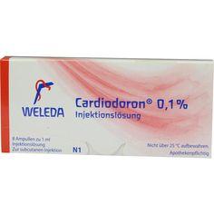 CARDIODORON 0,10 prozent Injektionslösung:   Packungsinhalt: 8X1 ml Injektionslösung PZN: 01620325 Hersteller: WELEDA AG Preis: 13,89 EUR…