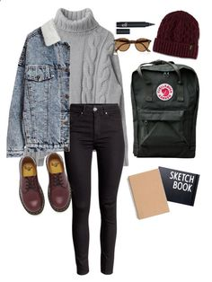 Martens, fjã ¤ llrã ¤ ven, design letters and ray-ban школьные наряды, н Fall College Outfits, Winter Outfits, Summer Outfits, Grunge Outfits, Jean Outfits, Casual Outfits, Men's Outfits, Look Fashion, Fashion Outfits