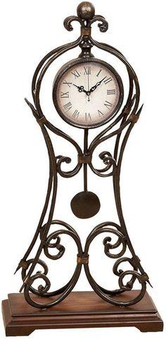 """UMA Inc Mtl Clock 24""""H, 11""""W"""