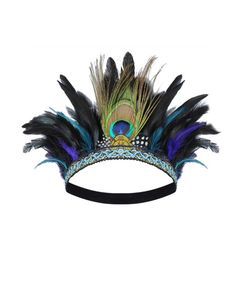 Elmstone Handmade Peacock Feather Crown £30