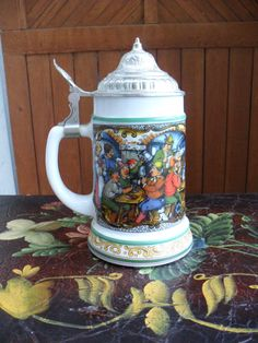 German Beer Stein, Vintage German Beer Stein by AdmirasTreasure on Etsy