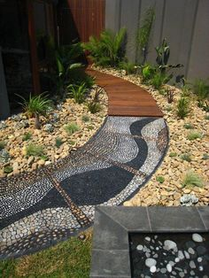 21 Cool Pebble Pathway Design Ideas for Lavishly Garden