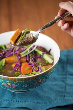 Chinese Five Spice Beef Soup with Bok Choy