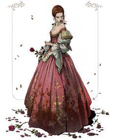 Elizabeth Bathory - Blood Countess by katya-gudkina on DeviantArt Character Concept, Character Art, Concept Art, Fantasy Characters, Female Characters, Elizabeth Bathory, Illustration Art, Illustrations, Character Design Inspiration
