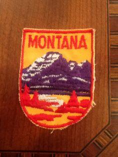 Montana Vintage Travel Patch by HeydayRetroMart on Etsy, $4.50
