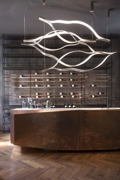 Cage B Wine Storage & designer furniture Wine Storage, Storage Shelves, Shelving, Luxury Home Decor, Luxury Interior Design, Modern Lighting, Lighting Design, Wood Oil Finish, Cage
