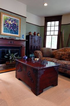 New Orleans Uptown Garden District living room with Asian antiques