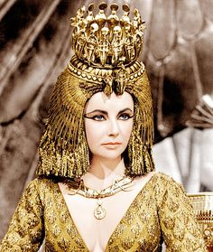 Elizabeth Taylor, Cleopatra (1963). Womens costumes designed by Renie, mens costumes by Vittorio Nino Novarese