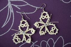 Lace handmade unique beaded earrings Beautiful