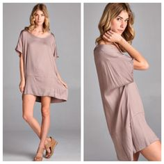 Shift dress ONE DAY SALE Round neck boxy fit shift dress PLEASE USE Poshmark new option you can purchase and it will give you the option to pick the size you want ( all sizes are available) BUNDLE And SAVE 10% ( sizes updated daily ) Dresses