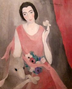 Portrait de Madame Paul Guillaume (1924) by Marie Laurencin (1885-1956) - collection of Musée de l'Orangerie, Paris