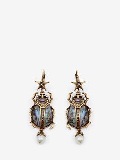 ALEXANDER MCQUEEN Beetle Earrings Earring D f