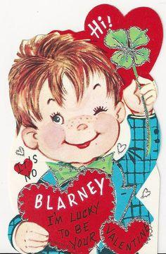 Blarney Its A Four Leaf Clover Valentine Card