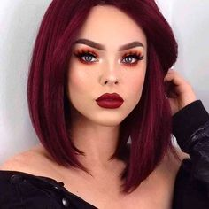 """Hi pretty Ladies, welcome to Darlingnaija. Here are the """"Hottest Bob Hairstyles to Rock."""" These Bob hairstyles are really wonderful and appealing. Frontal Hairstyles, Bob Hairstyles, Straight Hairstyles, Curly Haircuts, Retro Hairstyles, Party Hairstyles, Wedding Hairstyles, Pelo Color Vino, Red Hair With Highlights"""
