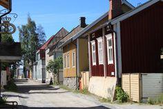 Traditional buildings at Pietarsaari.  Ostrobothnia province of Western Finland - Pohjanmaa - photo Ilmari