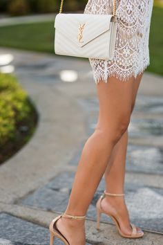 , los angeles fashion blogger, lace romper, morning lavender lace romper, cute rompers for women, orange county blogger, ysl clutch