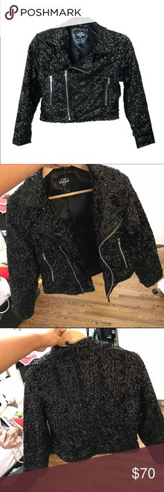 Valfre Glitter me Moto Size L, never used, basically brand new. Sad to see this go but I never wear it or wore it or reached for it. Valfre Jackets & Coats Blazers