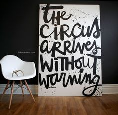 The first line from the Night Circus. Cute. (via kalbarteski — CIRCUS painting)