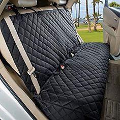 Double Bench Black Van Car Seat Cover Waterproof Resistant Heavy Duty Twin Seat