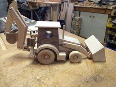 Handcrafted Wood Toy Backhoe by KKRVenturesLLC on Etsy