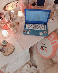 aburrimiento extremo custom made woman's waistcoat - Woman Waistcoats Study Space, Study Desk, Cute Desk, Kawaii Room, Aesthetic Rooms, Roomspiration, Gamer Room, Pink Room, Study Inspiration