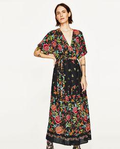 PRINTED SARONG MIDI DRESS-DRESSES-WOMAN   ZARA United States