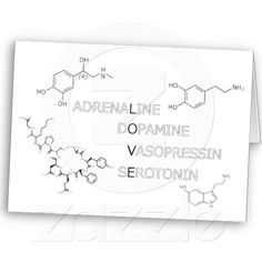 Science Geek Chemical Structure of Love Card