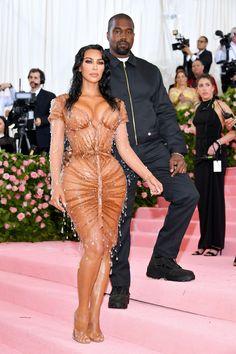 Kim Kardashian West in Manfred Thierry Mugler and Kanye West