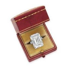 Cartier 19.86 carat, D, potentially internally flawless, diamond ring from the 1930's