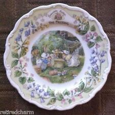 "❤RARE NEW IN BOX HTF ROYAL DOULTON Brambly HEDGE CHINA PLATE ""THE MEETING""❤"