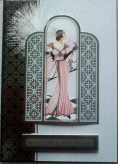 Art deco card with feathers!                                                                                                                                                      More